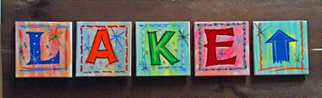 LAKE SIGN - Very Colorful & Funky - for outdoor use