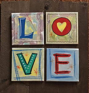 "COLORFUL ""LOVE"" SIGN  - Funky Lettering - use indoors or outdoors"