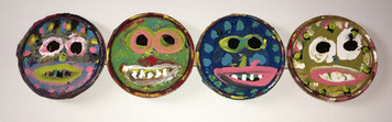 PAINT CAN LID FACES by Bebo