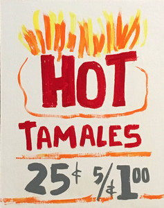 HOT TAMALAES - Chicago DINER SIGN by otto