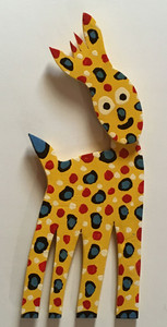 YELLOW GIRAFFE  CutOut by BEBO- - WAS $85 - NOW $70