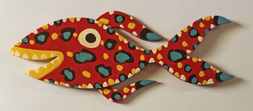 RED FIN FISH - CutOut by BEBO - WAS $95 - NOW $75