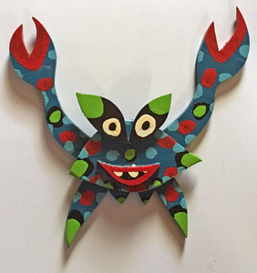 BLUE CRAB WOOD CUT OUT by BEBO - WAS $95 - NOW $75