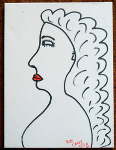 Pops Casey -- WOMAN WITH RED LIPS