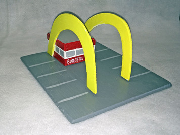 McDONALDS Old Style  STAND -  Hamburgers 15¢ - Eddie A