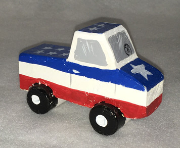 Red - White - Blue Truck by Eddie Armstrong