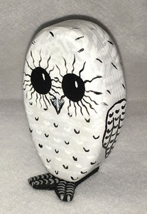 SNOW OWL CARVING by Jo Ann Butts
