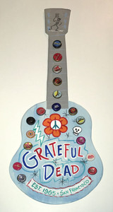 Grateful Dead GUITAR - Wall Hanger - NOW ONLY $40