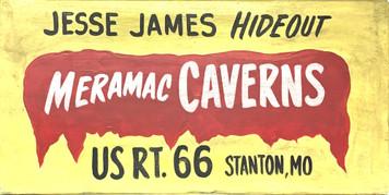MERAMEC CAVERNS -MISSOURI - RT 66 - OLD TIME SIGN