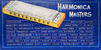 Tribute to 30 BLUES HARMONICA MASTERS  by George Borum