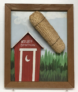 OUTHOUSE with CORN COB by Geo G Borum