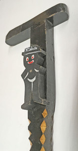 TRAMP ART WALKING STICK w/ BLACK MAN -by Geo G Borum (2)