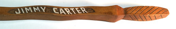 JIMMY CARTER CARVED WALKING STICK by Geo G Borum