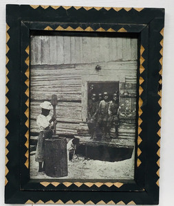 TRAMP ART FRAME - Black Girl Grinding Grain