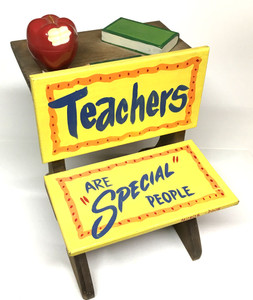 "Mini SCHOOL DESK - ""Teachers are special People"""