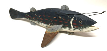 Hand Carved Wooden FISH DECOY -