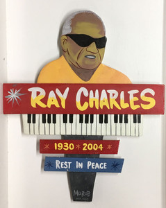 RAY CHARLES WALL PLAQUE -  by George Borum