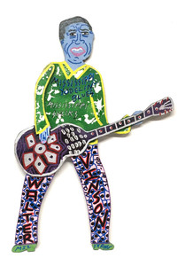 WALTER VINSON - Guitar - Wall Hanging by Miz Thang
