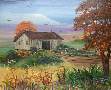 OLD BARN - OIL PAINTING by Norm - WAS $50 - NOW $40