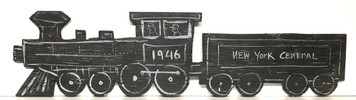 WOOD CUT-OUT New York Central TRAIN by John Taylor