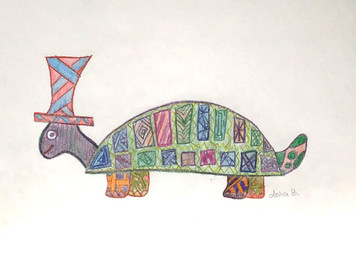 COLORFUL MR FUNKY TURTLE by Delia