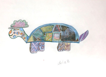 COLORFUL MS FUNKY  TURTLE by Delia B