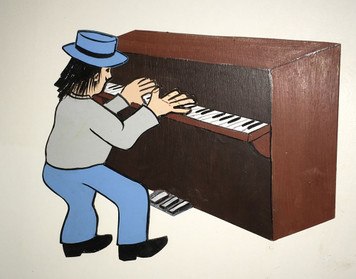 3-D CUT OUT PIANO PLAYER by George Borum