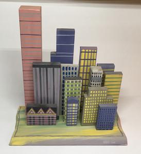 3-D CITYSCAPE - Dozen SKYSCRAPERS