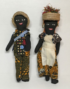 CUDJOE & NANNY - 1950's Collectible Jamaican Dolls
