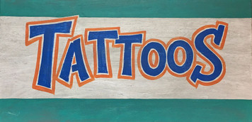 TATTOOS - Colorful Sign by George Borum