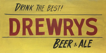 DREWRYS BEER SIGN - South Bend IN Brewery Sign