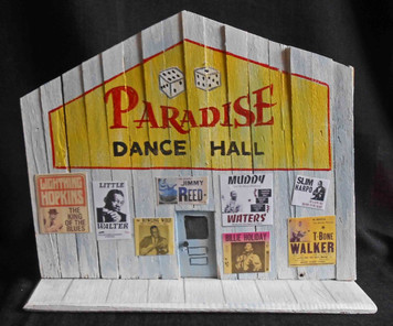 Paradise Dance Hall Blues Juke Joint construction by George Borum
