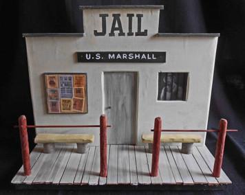 Gunsmoke Marshall's Jail & Office construction by George Borum - Festus in the window