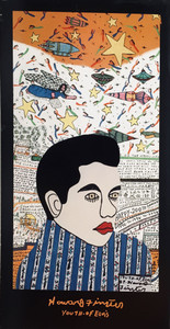 "ARTPRINT - ""Youth of Elvis"" - by Howard Finster"