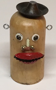 WOODEN SALT SHAKER CHARACTER - by Billy FRED Hellams - #1131