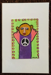 PEACE BEAR PAINTING by Billy FRED Hellams - #1393