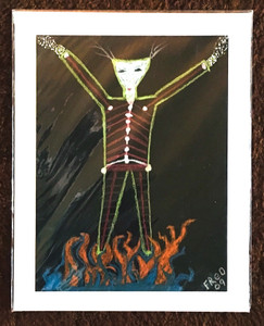 BURNING MAN PAINTING by Billy FRED Hellams #527