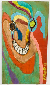 ABSTRACT FACE on wood by Billy FRED Hellams - #1254