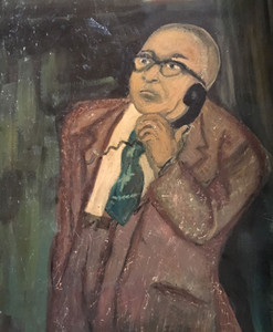 Man in Brown Suit -stretched canvas  - Paul McMickle