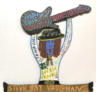 STEVIE RAY VAUGHAN Cutout by Miz Thang