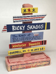 RICKY SKAGGS - Bluegrass Signpost  - NOW $15