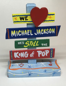 MICHAEL JACKSON SIGNPOST - WAS $30 - NOW $15