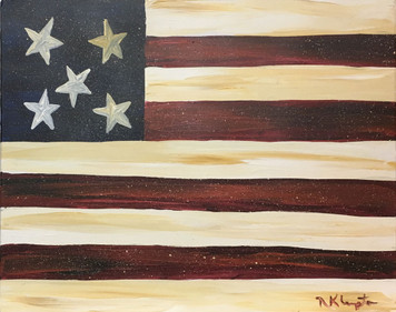 FLAG #5 - Oil Painting by Norm the Painter - WAS $50 - NOW $30