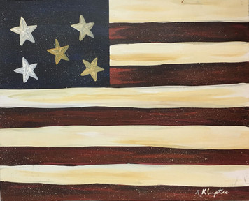 FLAG #4 - Oil Painting by Norm the Painter WAS $50 - NOW $30