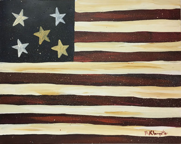 FLAG #3 - Oil Painting by Norm WAS $50 - NOW $30