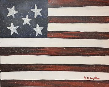 FLAG #2 - Oil Painting by Norm WAS $50 - NOW $30