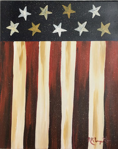FLAG #1 - Oil Painting by Norm - WAS $50 - NOW $40