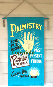 FORTUNE TELLER Canvas Banner by George Borum