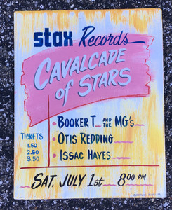 STAX RECORDS SIGN - Booker T - Otis Redding - Issac Hayes - Was $35 - Now $20
