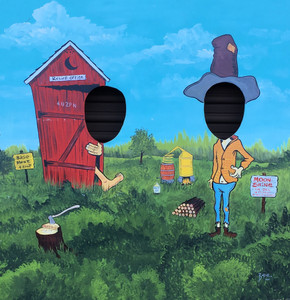 FUN HOUSE - OUTHOUSE- HILLBILLY - USED PHOTO PROP